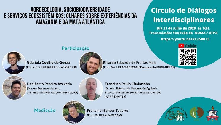 Grupo de Pesquisa promove Círculos de Diálogos Interdisciplinares para dialogar com a sociedade